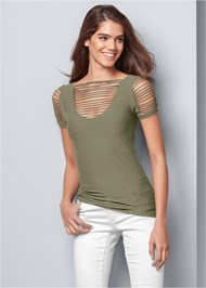 Front View Seamless Cut Out Top