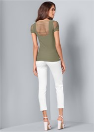 Back View Seamless Cut Out Top
