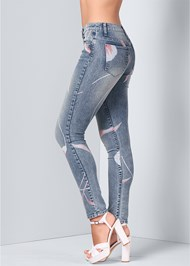 Alternate View Abstract Print Jeans