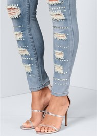 Alternate View Embellished Rip Jeans