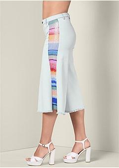 sequin panel culottes