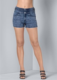 Front View Buckle Detail Shorts