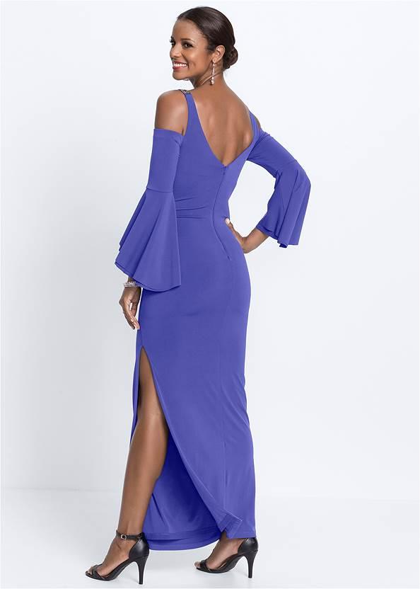 Alternate View Cold Shoulder Long Dress