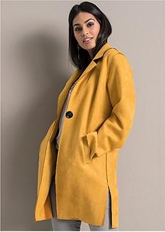 faux suede jacket