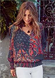 Front View Paisley Top