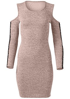 plus size sleeve detail lounge dress