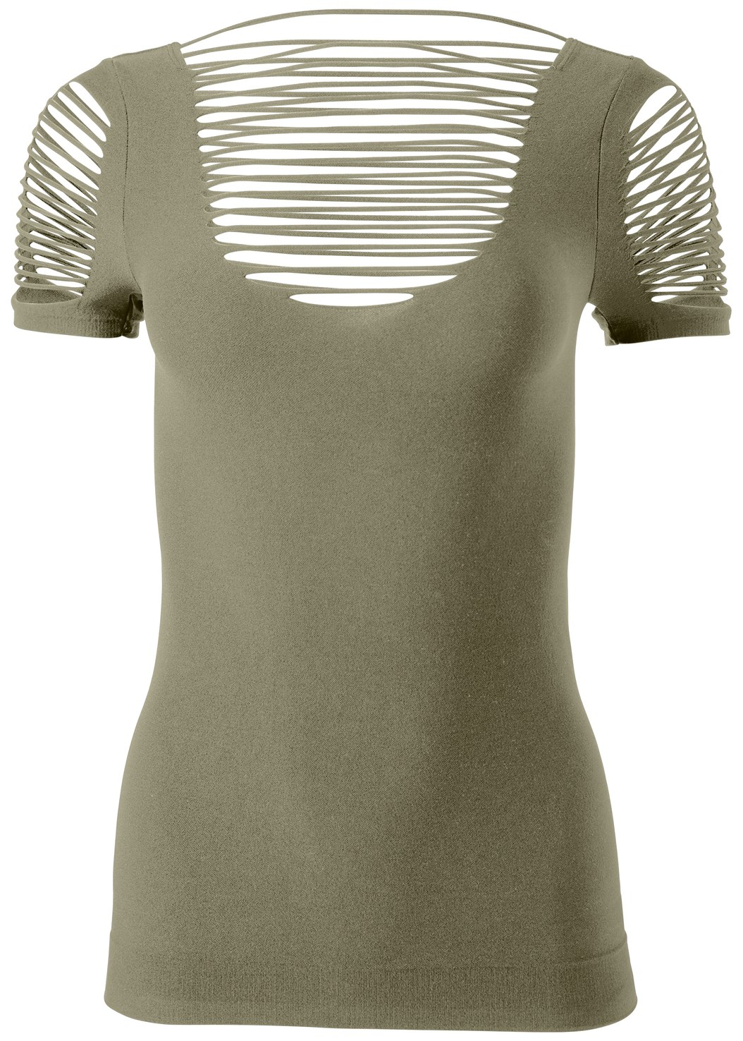 Seamless Cut Out Top,Mid Rise Color Skinny Jeans,Cleavage Enhancers