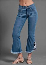 Waist down side view Frayed Jeans