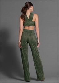 Full back view Tie Front Pant Set