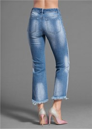 Detail  view Two Toned Distressed Jeans