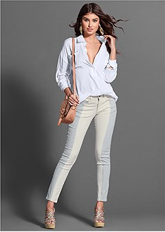 two-toned jeans