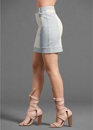 Alternate View Two-Toned Denim Skirt