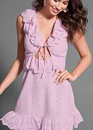 Detail  view Tie Front Eyelet Dress