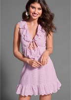tie front eyelet dress