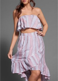 Detail  view Striped Skirt Set