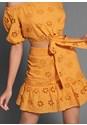 Detail  view Eyelet Detail Skirt Set