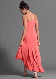 Full back view Faux Wrap Dress
