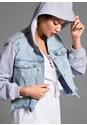 Detail  view Hooded Denim Jacket