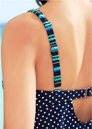 Alternate View Dotted Tankini Swim Top