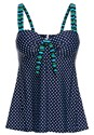 Alternate View Dotted Tankini Swim Top