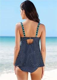 Back View Dotted Tankini Swim Top