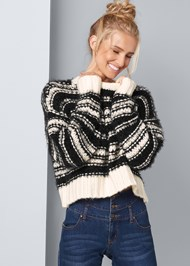 Front View Oversized Cozy Sweater