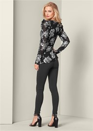 Back View Puff Sleeve Floral Top