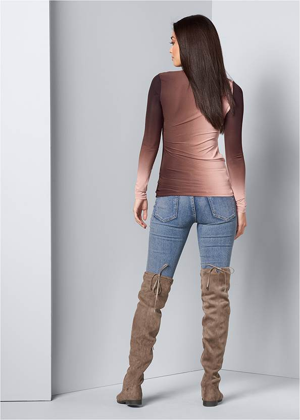 Back View Ruched Ombre Top