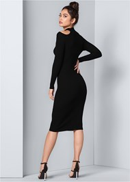 Back View Embellished Sweater Dress