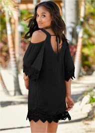 Back view Cold Shoulder Cover-Up