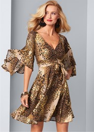Front View Leopard Print Dress
