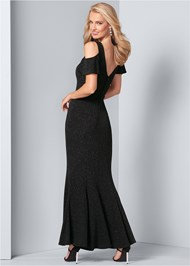 Back View Glitter Gown