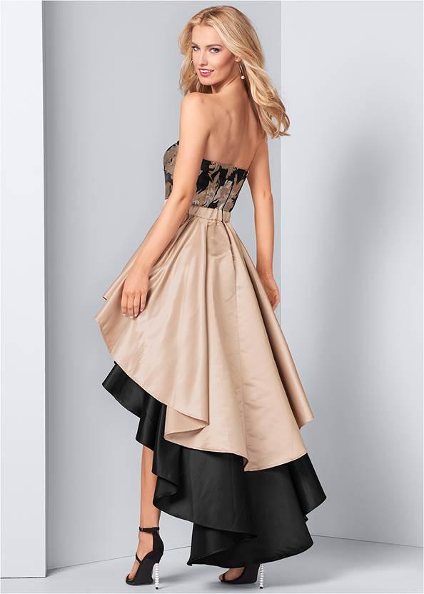 Back View Embellished High Low Dress