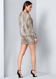 Back View Shimmer Detail Dress