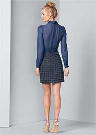 Back View Belt Detail Dress