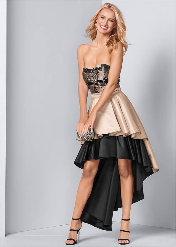 Embellished High Low Dress