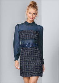 Front View Belt Detail Dress