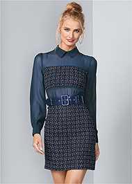 Front View Belt Detail Dress