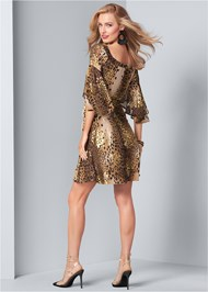 Back View Leopard Print Dress