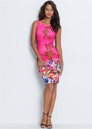 Alternate View Printed Bodycon Dress