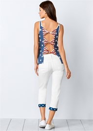 Back View Stars And Stripes Knit Top