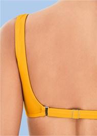 Detail back view Retro Swim Bralette Top