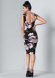 Alternate View Floral Bodycon Ruched Dress