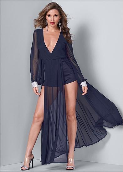 Rhinestone Cuff Dress