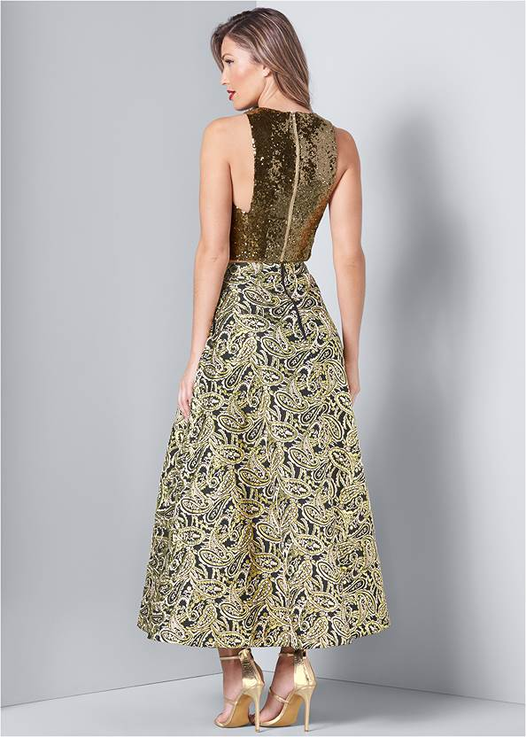 Back View Sequin Detail Two Piece Set