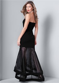 Back View Strapless Gown
