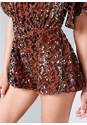 Alternate View Sequin Romper