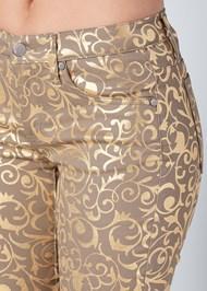 Alternate View Metallic Print Pants
