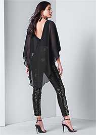 Back View Sequin Jumpsuit