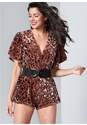 Front View Sequin Romper